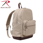 Rothco 9616 Canvas Teardrop Pack - Khaki w/Leather Accent