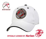 Rothco 9654 White Low Profile Cap - Usmc G & A Logo