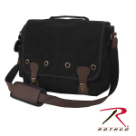 Rothco 9682 Canvas Trailblazer Laptop Bag - Black / Leather