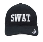 Rothco 9722 Deluxe Black Low Profile Cap - Swat