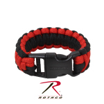 Rothco 972 Rothco Deluxe Paracord Bracelet - Red / Black