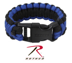 Rothco 973 Rothco Deluxe Paracord Bracelet-Royal Blue / Blk