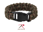Rothco 978 Rothco Deluxe Paracord Bracelet - Woodland Camo