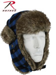 Rothco 9872 Blue Plaid Fur Flyer's Hat