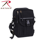 Rothco 99146 H/W Canvas Classic Passport Travel Pouch - Black