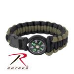 Rothco 999 Rothco Paracord / Compass Bracelet - Od / Black