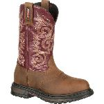RS  RKW0176 Rocky Original Ride  Waterproof Saddle Western Boot