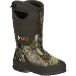 RS  RKYS119 Rocky Core Big Kid's Rubber Waterproof 400g Insulated Pull-On Boot