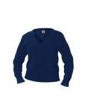 100% Cotton V-neck Pullover Sweater