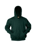 Full Zip Hooded Fleece Sweatshirt