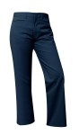 <b>Navy Mid-Rise Pant-Girls</b>