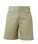 Mid-Rise Plain Front Shorts