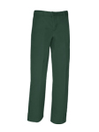 Relaxed Fit Plain Front Pants