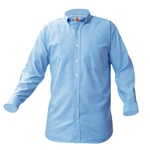<b>LS Peter Pan Blouse-Blue</b>