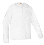 Peter Pan Collar Broadcloth Blouse Long Sleeve With Pocket