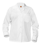 Girls Broadcloth Blouse Long Sleeve With Pocket