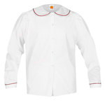 <b>Girl&apos;s Puffed Long Sleeve Broadcloth Blouse</b>