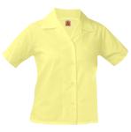 Girls Broadcloth Shorts Sleeve Blouse No Pocket