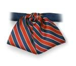Multi Stripe Banded Tab Bow
