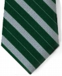 Bar Stripe Clip-on Tie w/Buttonholes