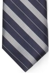 Bar Stripe Necktie w/Buttonholes