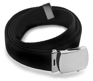 Samuel Broome 66005 Cotton Web Belt w/Gold Buckle
