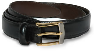 Samuel Broome 6620 Leather Dress Belt w/2 Tone Buckle