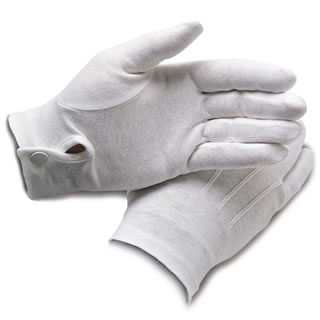 Samuel Broome 99055 Cotton Dress Gloves w/ Wrist Snap