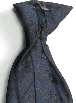 Samuel Broome P2432C USPS Eagle Logo Clip-on Tie with Buttonholes