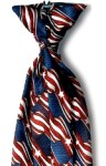 Samuel Broome P2497C USPS Stars & Stripes Clip-on Tie with Buttonholes