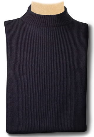 Samuel Broome P2836B USPS Acrylic Knit Mock Turtleneck Dickey