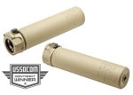 Surefire SOCOM556-RC END MOUNT SOUND SUPPRESSOR, HIGH TEMPERATURE ALLOY CONSTRUCTION, FOR USE WITH 5.56 CALIBER AMMUNITION, BLACK FINISH