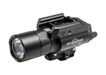 Surefire X400U-A-RD X400 ULTRA, 6V, UNIVERSAL/PICATINNY RAIL MOUNT, 500 LUMENS, 635 nM RED LASER, BLACK, Z-XBC PUSH/TOGGLE SWITCH