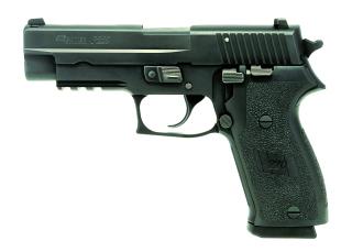 Sig Sauer W220R-45-BSS P220 , .45 ACP, Pistol, Full size, 4.4in bbl, Nitron, BLK, DA/SA, SIGLITE, E2 Grip, (3) 8rd Steel Mag, Accessory Rail