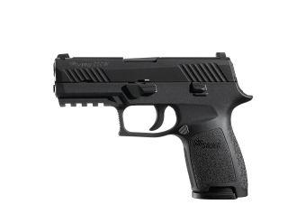 Sig Sauer W320C-9-BSS P320, 9mm, Pistol, Compact, 3.9in bbl, Nitron, BLK, DAO, SIGLITE, Modular Polymer Grip, (3) 15rd Steel Mag, Accessory Rail