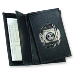 Side Open Double ID FLip-out Recessed Badge Case - Dress
