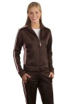 District Threads® - Junior Ladies Track Jacket with Striping.DT501