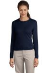 Port Authority Signature® - Ladies Fine-Gauge Long Sleeve Crewneck Sweater.LSW283