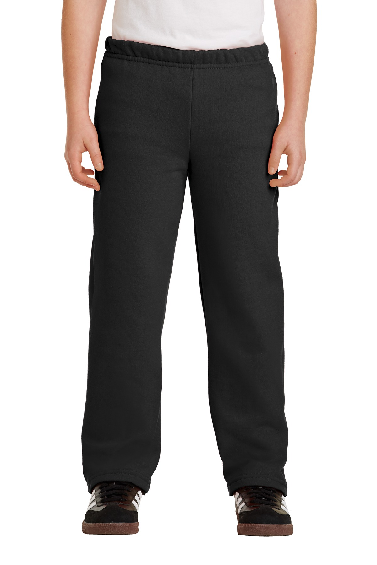 SanMar Gildan 18400B, Gildan® Youth Heavy Blend Open Bottom Sweatpant.