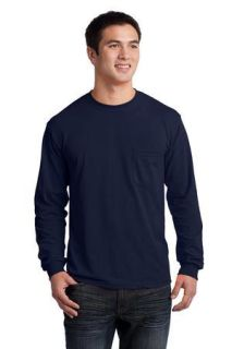 SanMar Gildan 2410, Gildan® - Ultra Cotton® 100% Cotton Long Sleeve T-Shirt with Pocket.