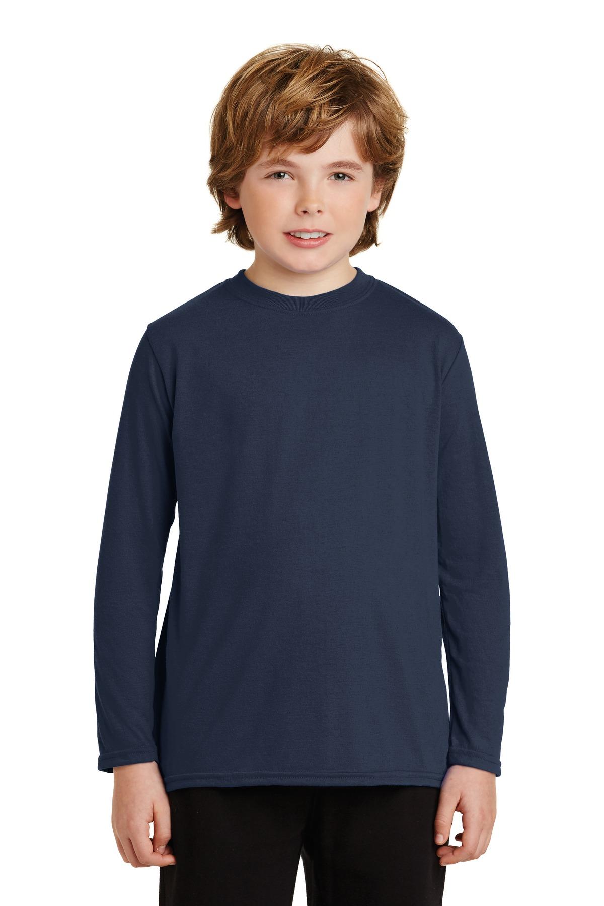 SanMar Gildan 42400B, Gildan® Youth Gildan Performance® Long Sleeve T-Shirt.