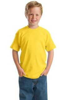 SanMar Hanes 5370, Hanes® - Youth EcoSmart® 50/50 Cotton/Poly T-Shirt.