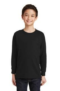 SanMar Gildan 5400B, Gildan® Youth Heavy Cotton 100% Cotton Long Sleeve T-Shirt.