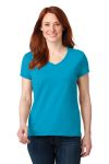 SanMar Anvil 88VL, Anvil® Ladies 100% Combed Ring Spun Cotton V-Neck T-Shirt.
