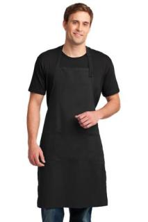 SanMar Port Authority A700, Port Authority® Easy Care Extra Long Bib Apron with Stain Release.