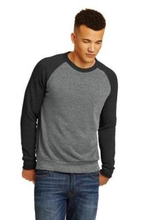 SanMar Alternative Apparel AA32022, Alternative Champ Colorblock Eco-Fleece Sweatshirt.