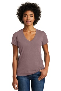 SanMar Alternative Apparel AA6097, Alternative Womens Weathered Slub So-Low V-Neck Tee.
