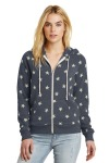 SanMar Alternative Apparel AA9573, Alternative Womens Adrian Eco -Fleece Zip Hoodie.