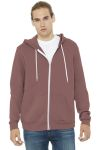 SanMar Bella + Canvas BC3739, BELLA+CANVAS ® Unisex Sponge Fleece Full-Zip Hoodie.