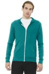 SanMar Bella + Canvas BC3939, BELLA+CANVAS ® Unisex Triblend Full-Zip Lightweight Hoodie.
